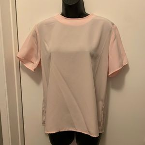 NWT Jaclyn Smith pink short sleeve blouse